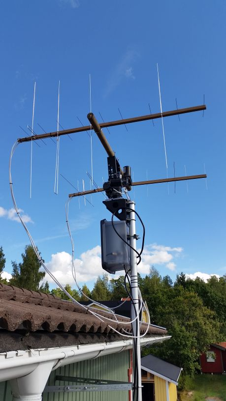 DIY Dual band yagi WA5VJB with relay and LNA connector box
